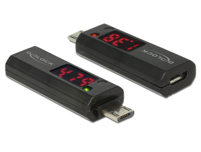 delock-micro-usb-adapter-mit-led-anzeige-fur-volt-und-ampere