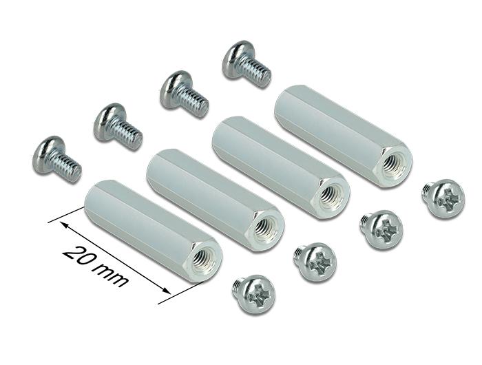 delock-befestigungsset-m25-abstandhalter-6-kant-innen-innen-20-mm-fur-raspberry-pi