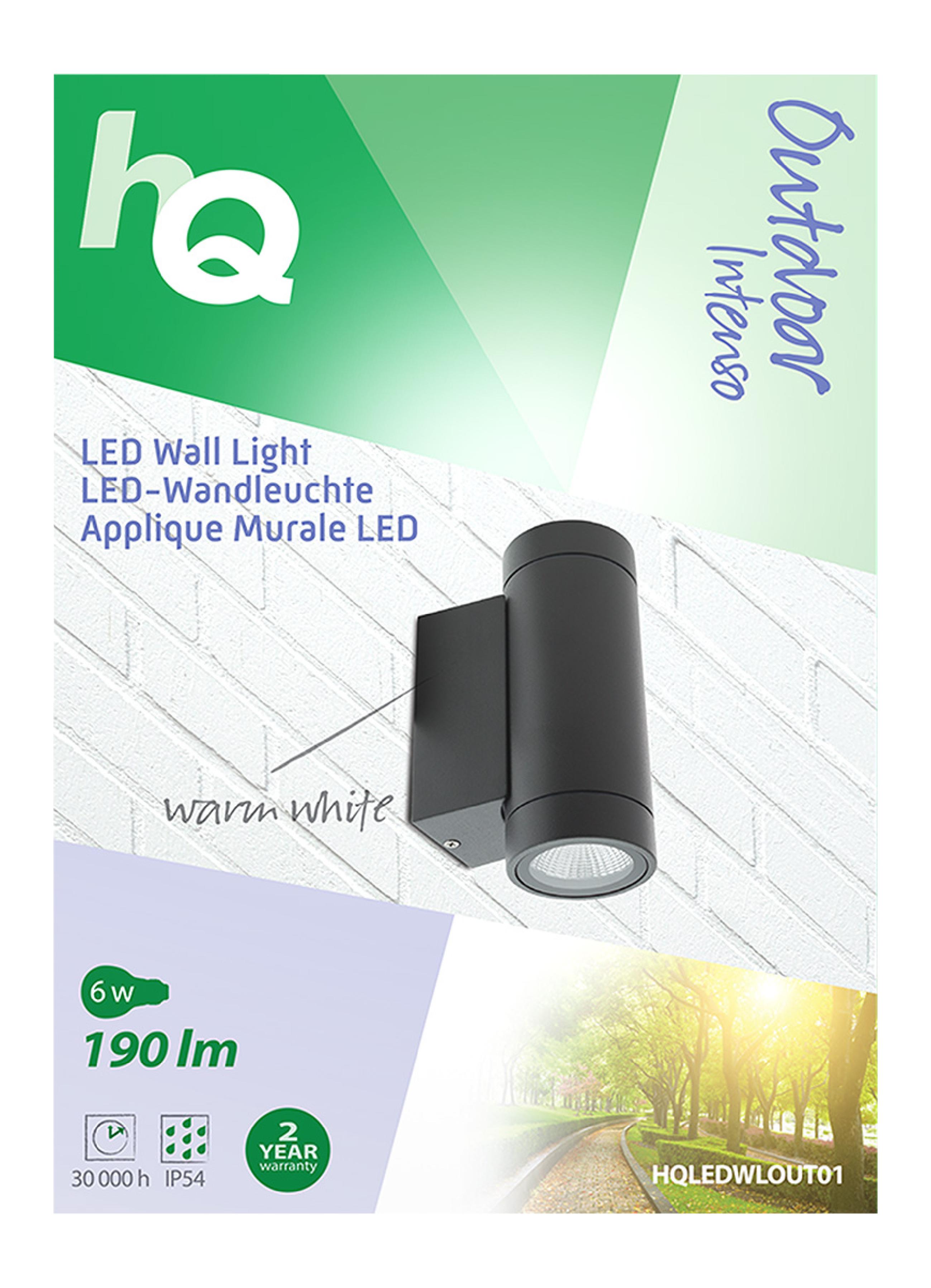 LED Außenwandleuchte 6 W 190 lm Schwarz