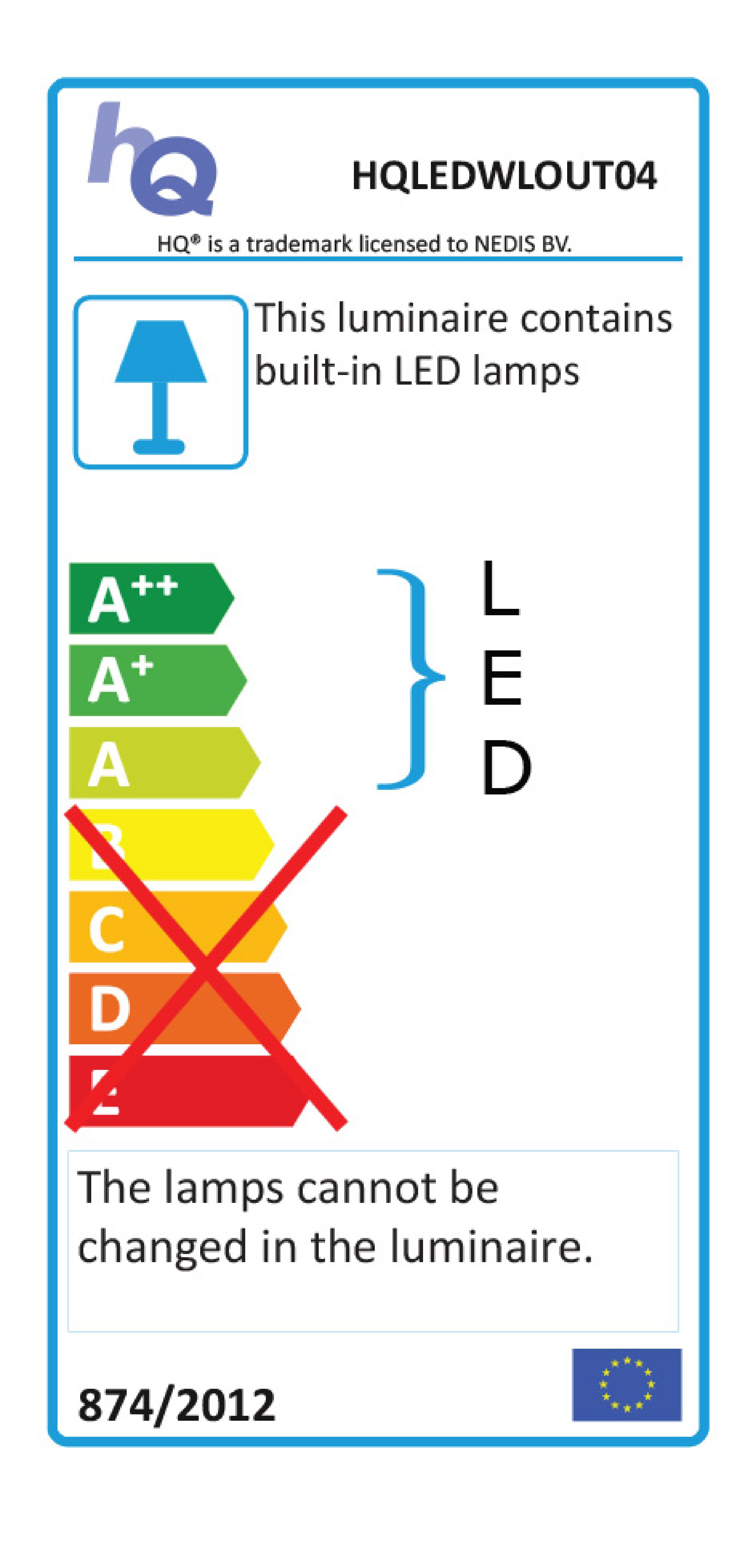 LED Außenwandleuchte 6 W 120 lm Schwarz