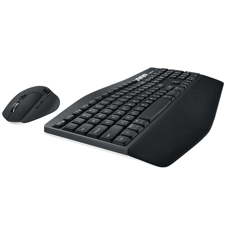Drahtlose Maus und Tastatur Combi Pack Büro USB US International Schwarz