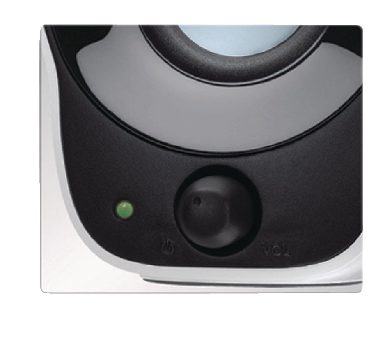 Lautsprecher 2.0 verdrahtet 3.5 mm 1.2 W Schwarz/Weiss
