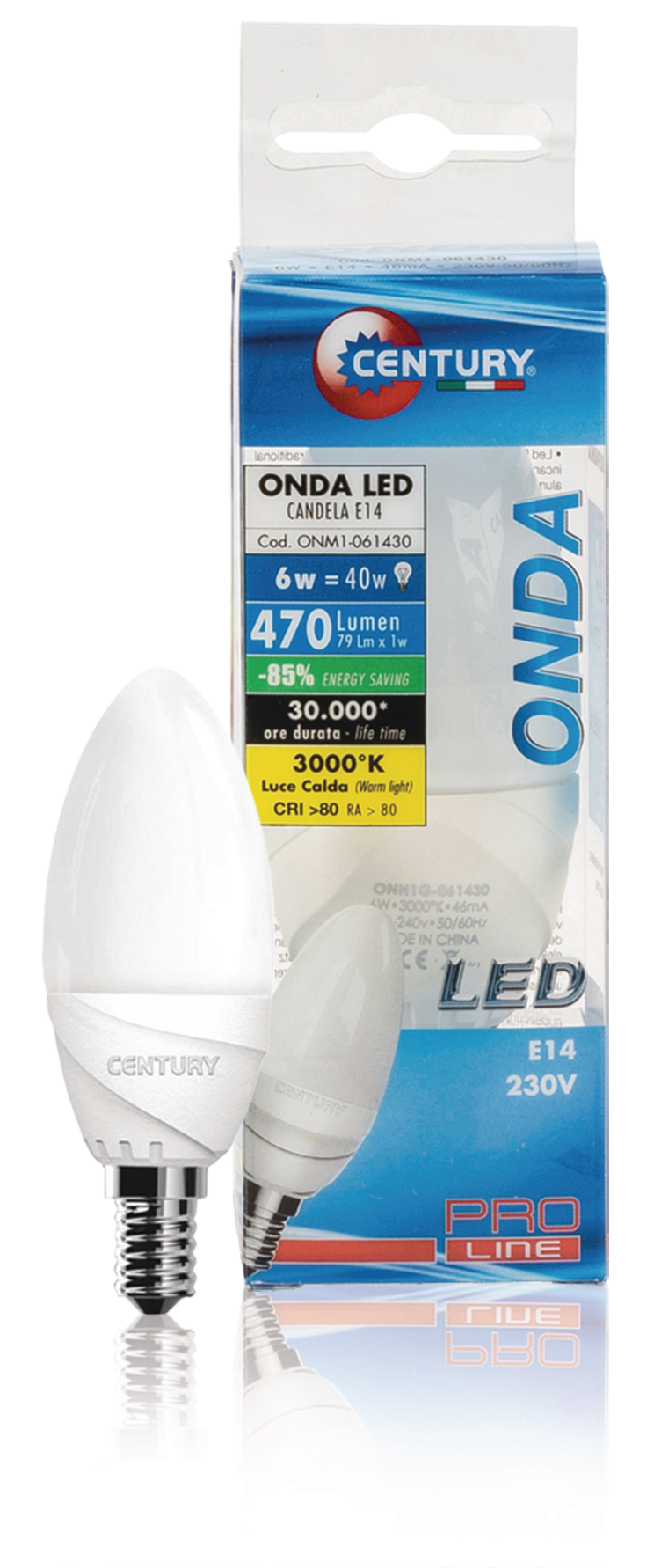 LED-Lampe E14 Kerze 6 W 470 lm 3000 K
