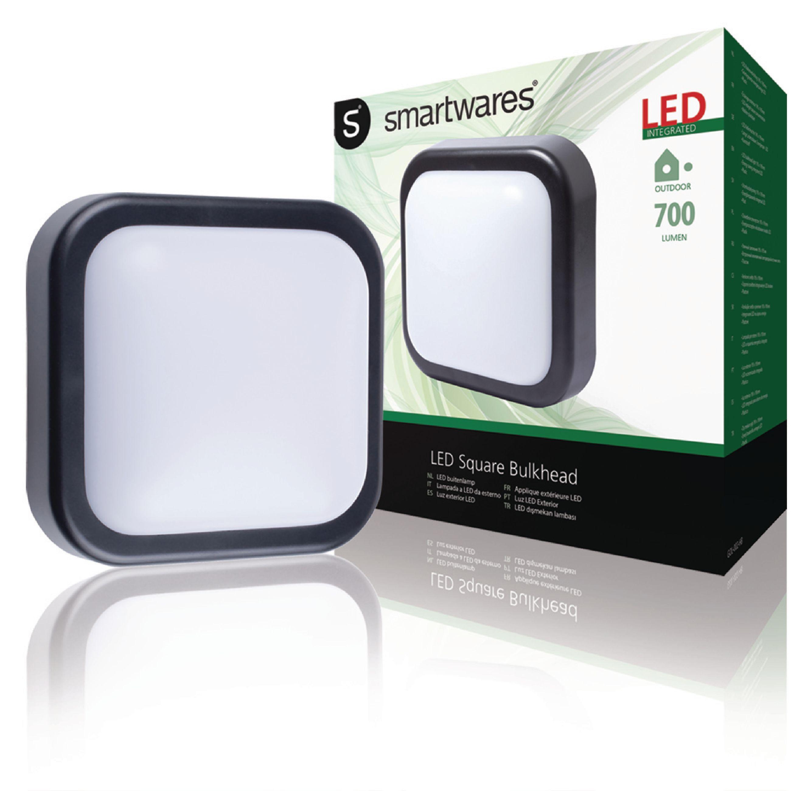 LED Außenwandleuchte 10 W 700 lm Schwarz