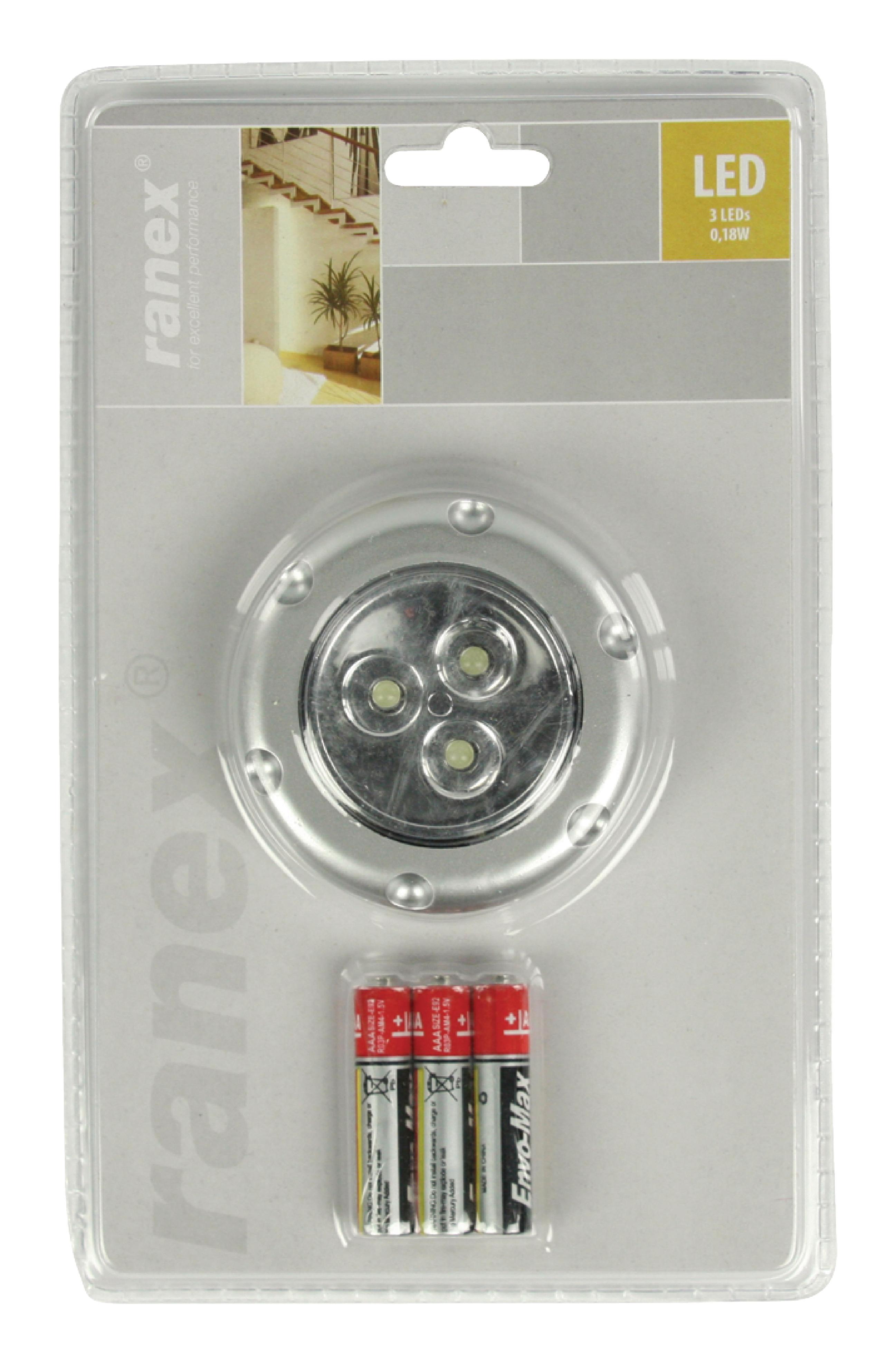 LED-Push-Licht 3 Grau