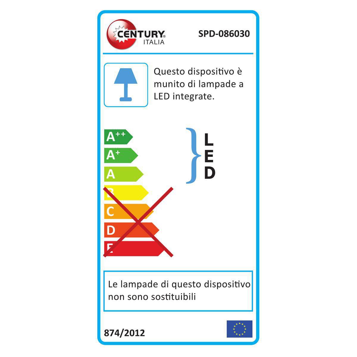 LED-Lampe 8 W 680 lm 3000 K