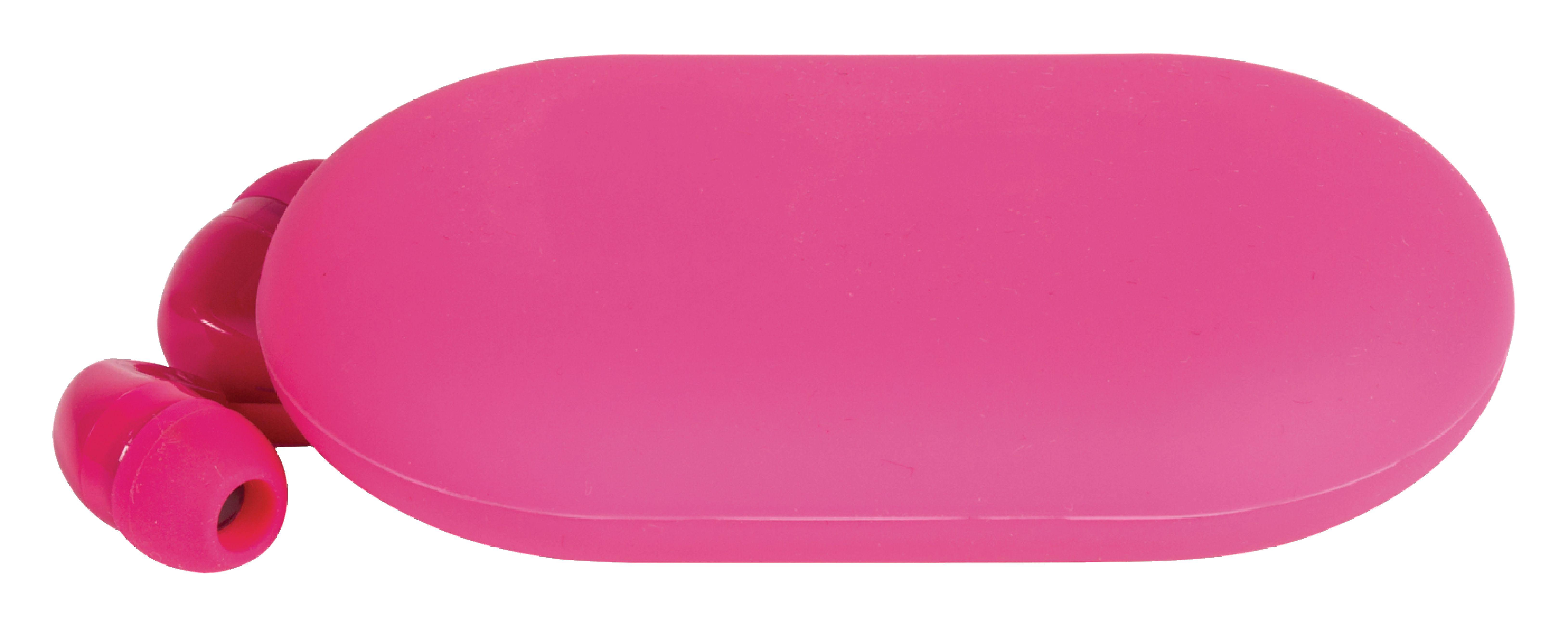Headset Flachkabel im Ohr 3.5 mm verdrahtet Eingebautes Mikrofon 1.2 m Rosa