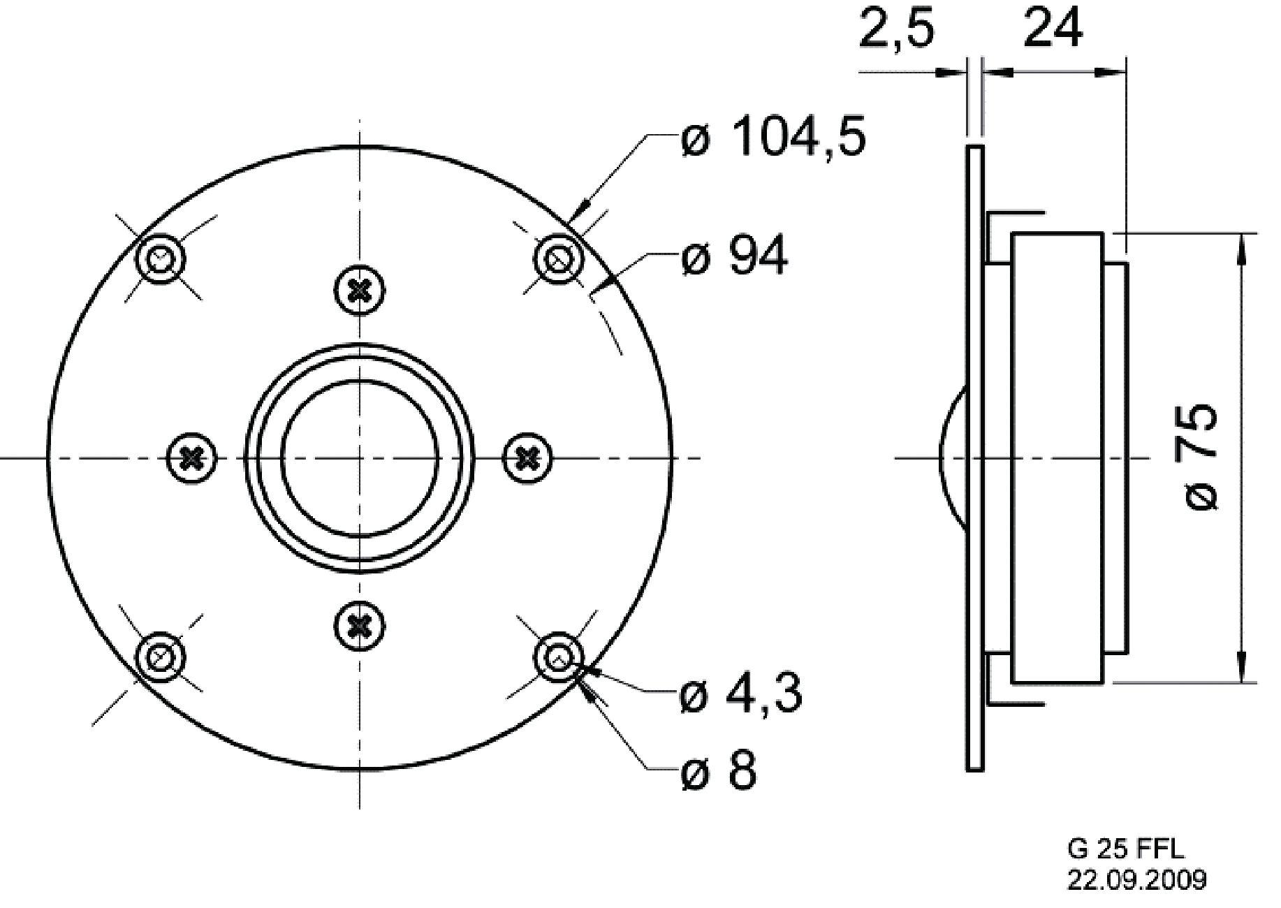 25mm (1) Gewebekalotte