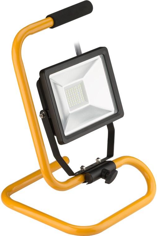 led-aussen-flutlichtstrahler-mit-standfuss-30-w-30-w-schwarz-gelb-14-m-arbeitsleuchte-mit-grossflach